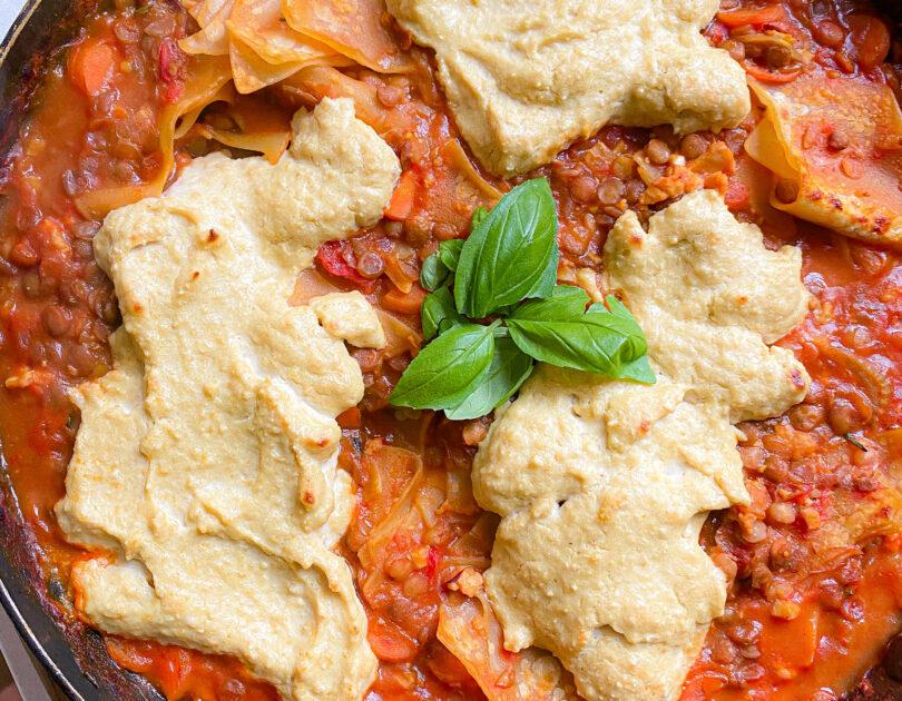 20-Min Vegan Lasagne in a Pan