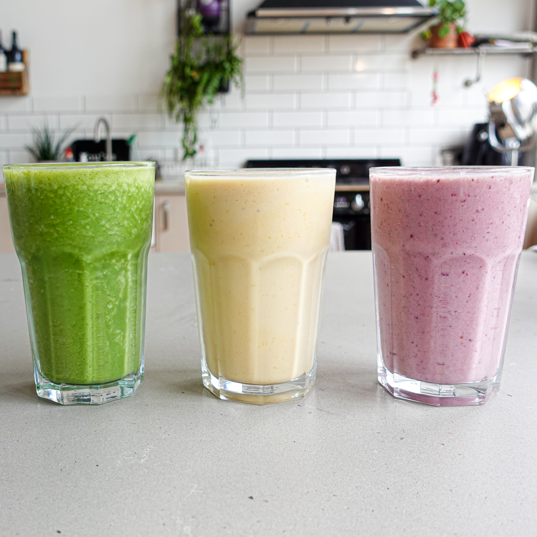 Red, Yellow & Green Smoothies